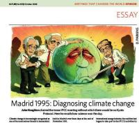 Houghton's Account of IPCC Working Group 1 meeting in Madrid 1995 in Nature 9 Oct 2008
